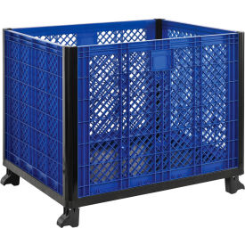 """Easy Assembly Vented Wall Bulk Container 39-1/4""""L x 31-1/2""""W x 29""""H Overall"""