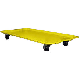 """Molded Fiberglass Dolly 780138 for 42-1/2"""" x 20"""" x 14-1/4"""" Tote, Yellow"""