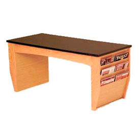 "Wooden Mallet Coffee Table With Magazine Rack - 46-1/2"" - Light Oak"