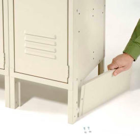 """End Base For 12""""D X 6""""H Tan Locker Pair (Left And Right)"""