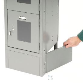 """End Base For 18""""D X 6""""H Gray Locker Pair (Left And Right)"""