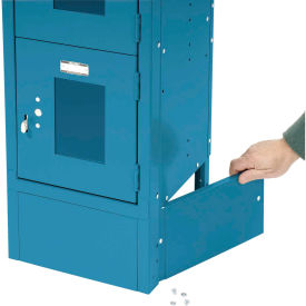 """End Base For 18""""D X 6""""H Blue Locker Pair (Left And Right)"""