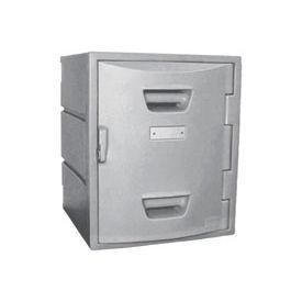 Box Plastic Locker for 4 Tier - Flat Top 15X15X18 Gray