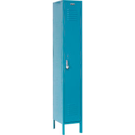 Paramount® Locker Single Tier 12x18x72 1 Door Assembled Blue