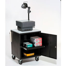 Black Security Audio Visual Cart 500 Lb. Capacity