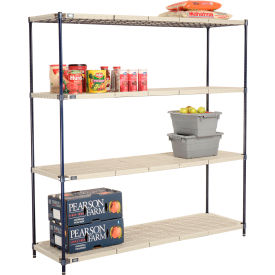 Vented Plastic Shelving 72x24x74 Nexelon Finish