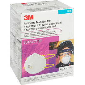 3M™ 8515/07189(AAD) N95 Disposable Particulate Welding Respirator, 10/Box