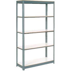 "Extra Heavy Duty Shelving 48""W x 24""D x 84""H With 5 Shelves, 1200 lbs. Capacity Per Shelf, Gray"