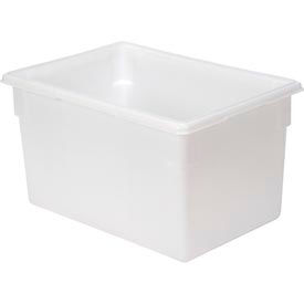 Rubbermaid 3501-00 White Plastic Box 21.5 Gallon 18 x 26 x 15 - Pkg Qty 6