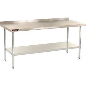 "Aero Manufacturing AS30X72 72""W x 30""D 18 Gauge Stainless Steel Workbench W/ Backsplash"