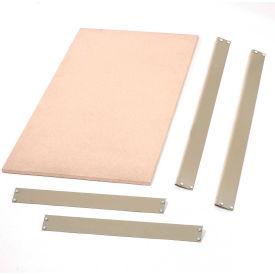 """Bulk Rack Shelf Wood Deck 96""""W x 24""""D Tan"""