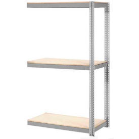 """Expandable Add-On Rack 72""""W x 24""""D x 84""""H Gray With 3 Level Wood Deck 750lb Cap Per Level"""