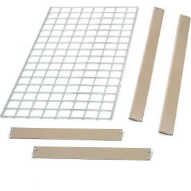 """Bulk Rack Shelf Wire Deck 96""""W x 48""""D Tan"""