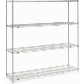 """Nexel Stainless Steel Wire Shelving 72""""W X 18""""D X 74""""H"""