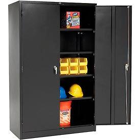 Global™ Storage Cabinet Assembled 48x24x78 Black