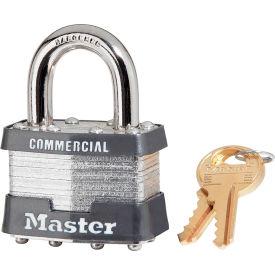 "Master Lock® No. 1 Keyed Padlock - 15/16"" Shackle - Keyed Different - Pkg Qty 3"