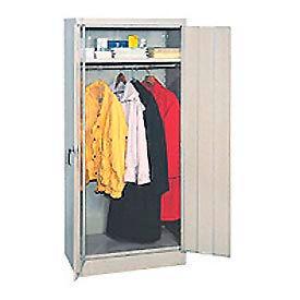 Compact Wardrobe Cabinet 18x18x66 Tan- Pkg Qty 1