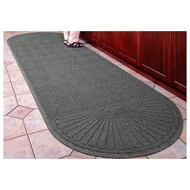 "Waterhog Grand Classic Mat Two Oval 6'W X 14'10""L Gray"