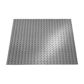 "Rubber Tile Round Disc Pattern 24""W X 24""L Slate - Pkg Qty 3"