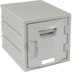 Box Plastic Locker for 6-Tier - Flat Top 12 X 15 X 12 Gray