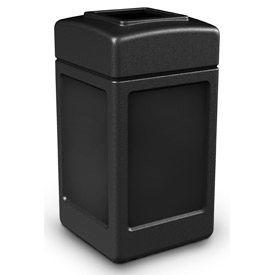 42 Gallon Square Waste Receptacles, Black - 732101- Pkg Qty 1
