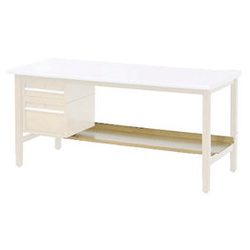 "60""W Lower Shelf For Bench - 15""D- Tan"