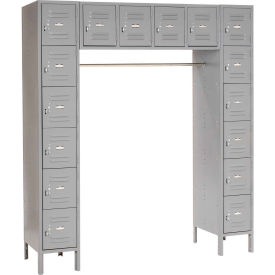 Paramount® 16 Person Locker 12  X 18 X 12 Assembled Gray