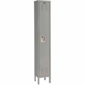 Hallowell U1558-1HG Premium Locker Single Tier 15x15x72 1 Door Ready Assemble Gray- Pkg Qty 1