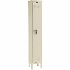 Hallowell U1558-1PT Premium Locker Single Tier 15x15x72 - 1 Door Ready Assemble - Tan