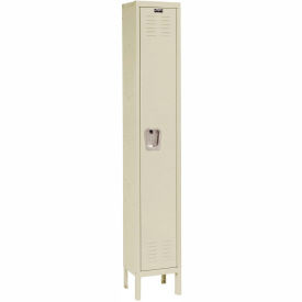 Hallowell U1258-1A-PT Premium Locker Single Tier 12x15x72 1 Door Assembled Parchment- Pkg Qty 1