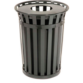 Global Industrial™ Outdoor Metal Waste Receptacle - 36 Gallon Black