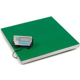 "Brecknell PS500 Low Profile Digital Floor Scale 22"" x 22"" 500lb x 0.2lb"