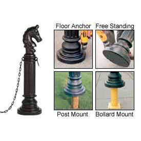 Eagle Decorative Post Sleeves Hitching Style, 1715BLK