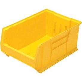 Quantum Hulk Plastic Stacking Bin QUS974YL 16-1/2 x 29-7/8 x 11 Yellow