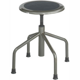 Safco® Low Base Stool - Steel - Silver