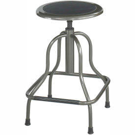 Safco® High Base Stool - Steel - Silver