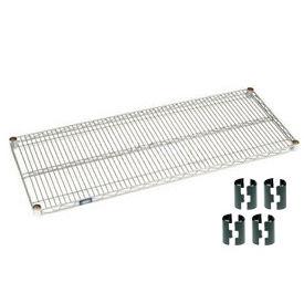 """Nexel S1860C Chrome Wire Shelf 60""""W x 18""""D with Clips"""
