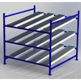 "UNEX FC99SR72723-S Flow Cell Heavy Duty Gravity Rack Starter 72""W x 72""D x 72""H with 3 Levels"