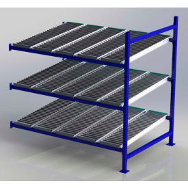 """UNEX FC99SR72483-A Flow Cell Heavy Duty Gravity Rack Add-On 72""""W x 48""""D x 72""""H with 3 Levels"""