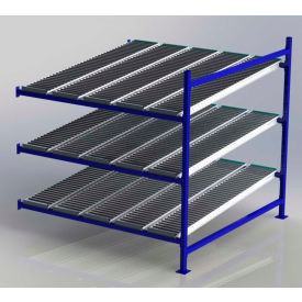 """UNEX FC99SR72723-A Flow Cell Heavy Duty Gravity Rack Add-On 72""""W x 72""""D x 72""""H with 3 Levels"""