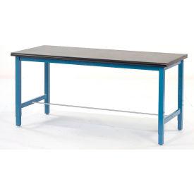 "60""W x 36""D Production Workbench - Phenolic Resin Safety Edge - Blue"