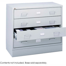 Multimedia Stackable Storage Cabinet - Light Gray
