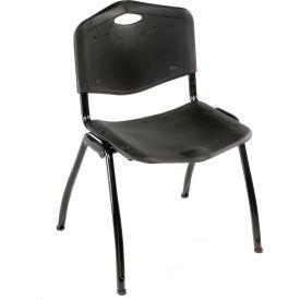 Oakmont Plastic Stackable Chair - Black - Pkg Qty 4