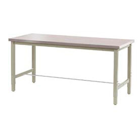 "48""W x 30""D Production Workbench - Stainless Steel Square Edge - Tan"