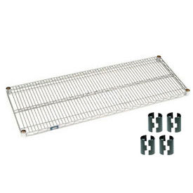 "Nexel S2460C Chrome Wire Shelf 60""W x 24""D with Clips"