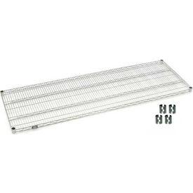 """Nexel S2472C Chrome Wire Shelf 72""""W x 24""""D with Clips"""