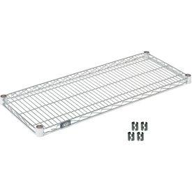 """Nexel S1424Z Poly-Z-Brite Wire Shelf 24""""W x 14""""D with Clips"""