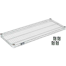 "Nexel S1448Z Poly-Z-Brite Wire Shelf 48""W x 14""D with Clips"