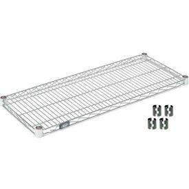 """Nexel S1842Z Poly-Z-Brite Wire Shelf 42""""W x 18""""D with Clips"""