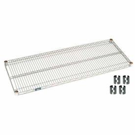 """Nexel S2454Z Poly-Z-Brite Wire Shelf 54""""W x 24""""D with Clips"""